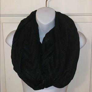 Charming Charlie Black Sparkle infinity Scarf